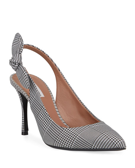 4812c149a77 Tabitha Simmons Millie Houndstooth Slingback Bow Pumps