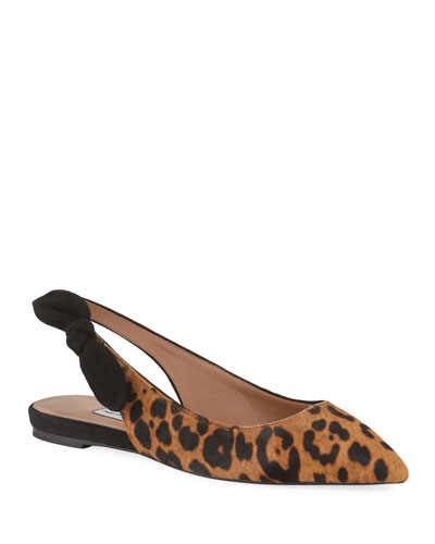 627308ff701d8 Leopard-Print Calf Hair Slingback Flats Quick Look. Tabitha Simmons