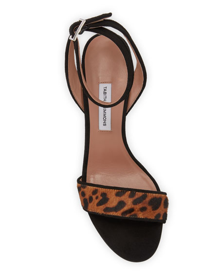 Leticia Leopard-Print Hair Sandals