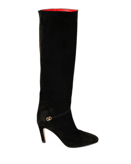 Go Logo Tall Suede Boots
