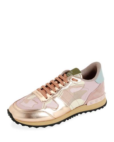 Rockrunner Low-Top Metallic Camo Sneakers