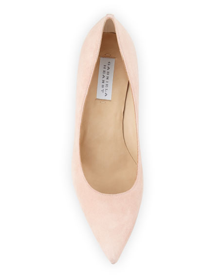 Justina Pointed-Toe Suede Pumps