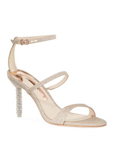 Rosalind Glitter Sphere-Heel Sandals