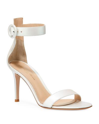 Aurora Portofino Pearlescent Ankle-Strap Sandals