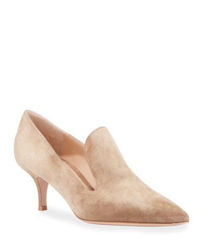 1d23bd52961b Suede Pointed Heeled Loafers Quick Look. Gianvito Rossi