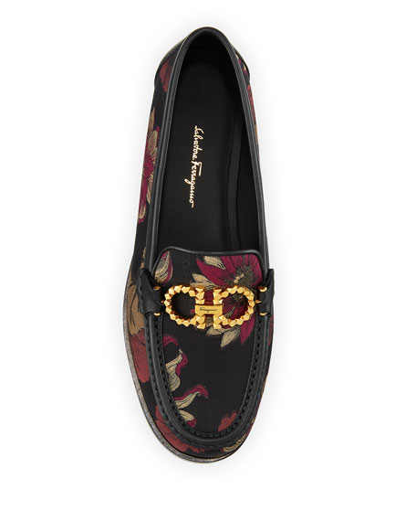 Rolo Floral Jacquard Gancini Loafers