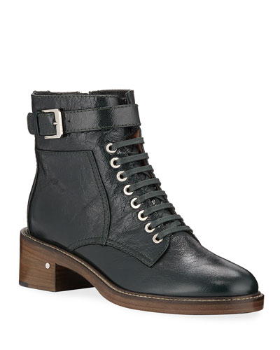 2b35cfab19c Solene Leather Combat Boots Quick Look. Laurence Dacade