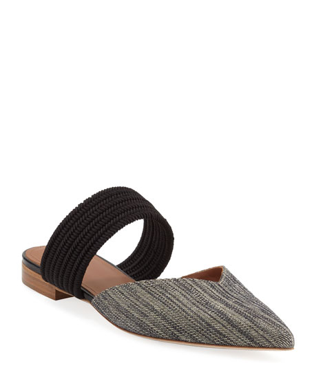 Maisie Luwolt Pointed-Toe Flat Mules