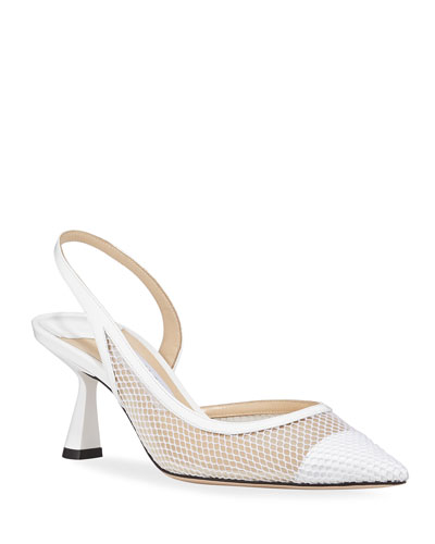 Fetto Slingback Mesh Pumps