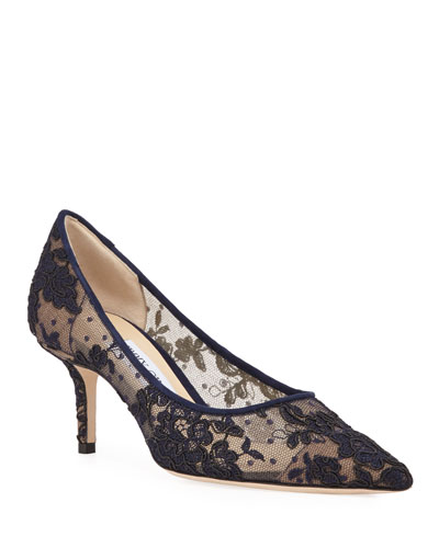 Love Pointed-Toe Lace Pumps