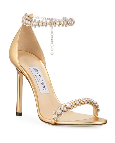 6c6afea3af4 Shiloh Metallic Crystal Sandals Quick Look. Jimmy Choo