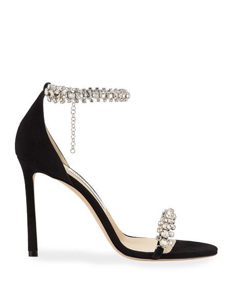 29505719fc2 Jimmy Choo Shiloh High-Heel Crystal Anklet Sandals
