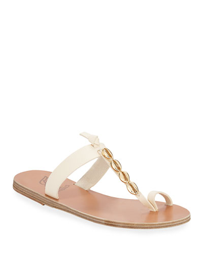 e0fcfd98256a Iris Metallic Seashell Flat Sandals Quick Look. Ancient Greek Sandals