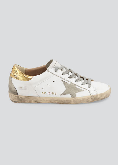 71fa86f17ab2 Superstar Leather Sneakers with Metallic Back