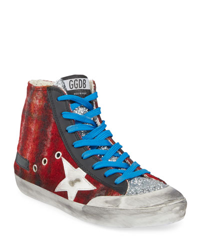 Francy Wool & Glitter High-Top Sneakers