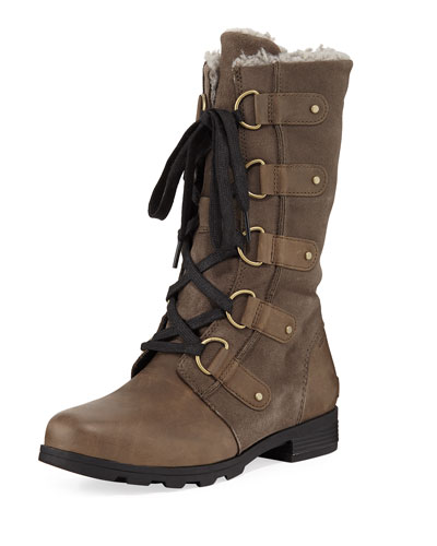 Emelie Waterproof Leather/Suede Boot