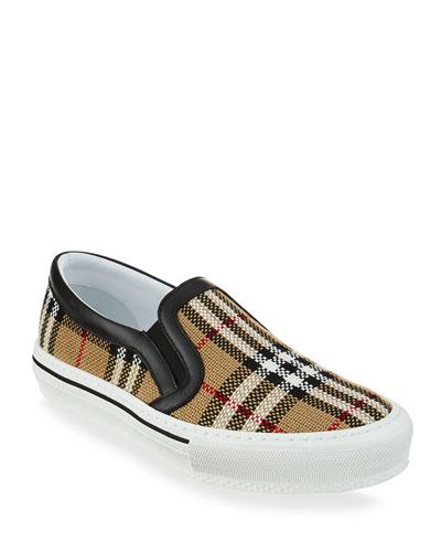 Delaware Plaid Slip-On Sneakers