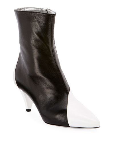 Soft Two-Tone Ankle Boots