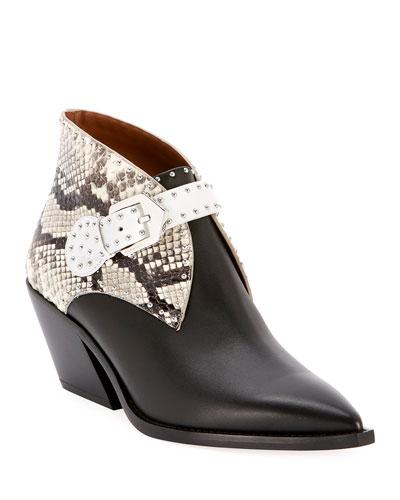 Elegant Cowboy Ankle Booties