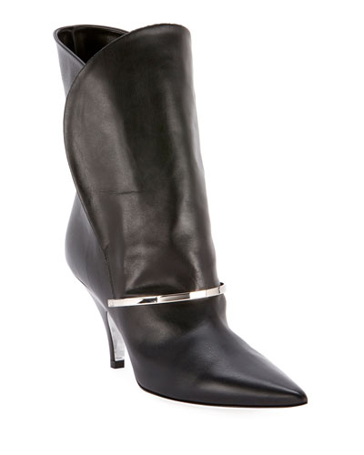 Smooth Leather Booties