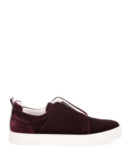 Velvet Slider Platform Sneakers