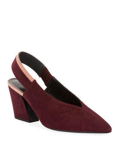 Alpha Two-Tone Leather Pumps