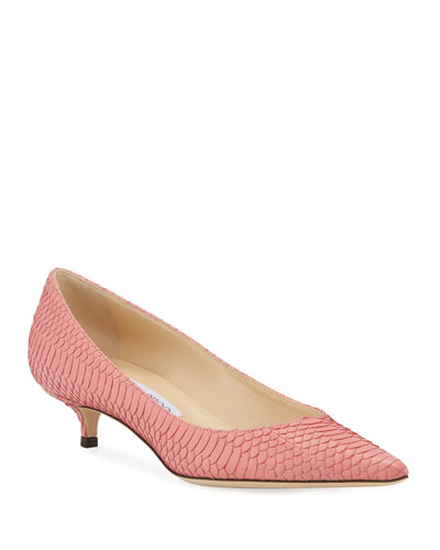 Amelia Snakeskin Pointed Pumps