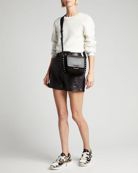 Sonnie Embossed Leather Buckle Sneakers