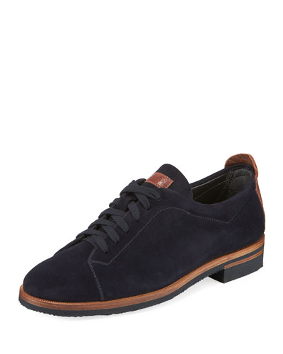 Suede Lace-Up Oxfords