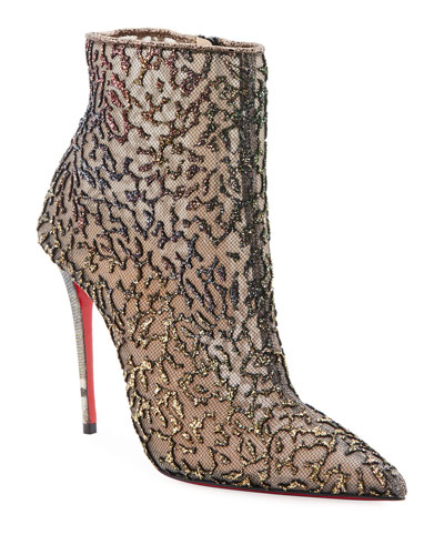 d0cfb8a7c112 Nancy Mesh Red Sole Booties Quick Look. Christian Louboutin