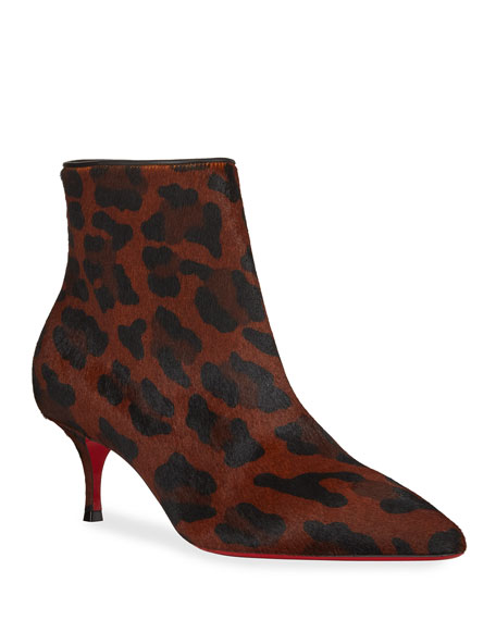 separation shoes 0c6a3 0a0a8 So Kate Leopard Red Sole Booties