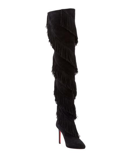 new style 919c2 d61e2 Bolcheva Fringe Red Sole Boots