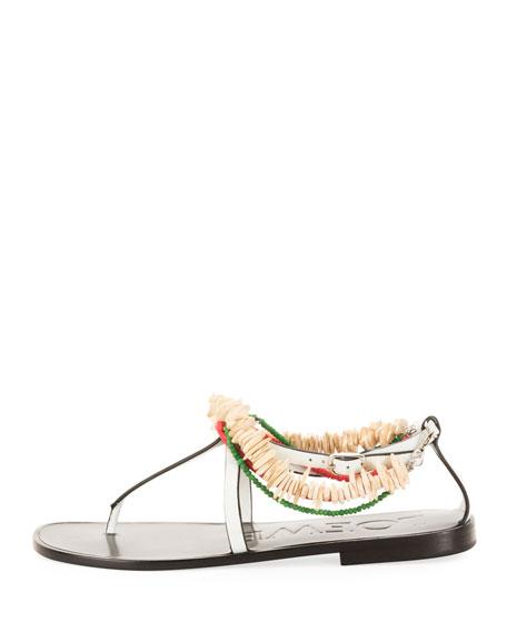 x Paula's Ibiza Flat Beaded Sandals