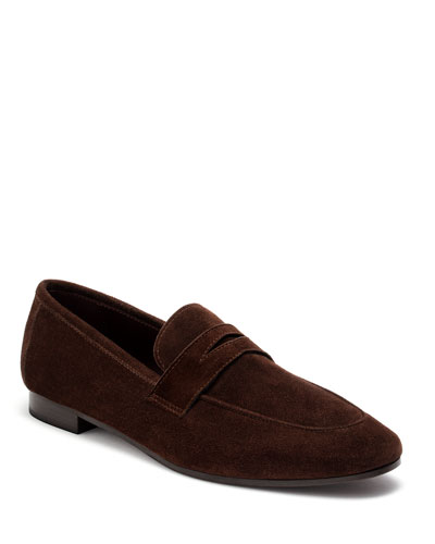 Coffee Suede Flat Loafers