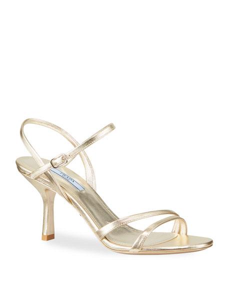 Metallic Napa Ankle Sandals