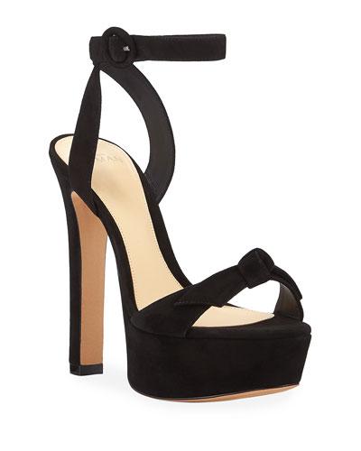 Clarita Evening Suede Platform Sandals
