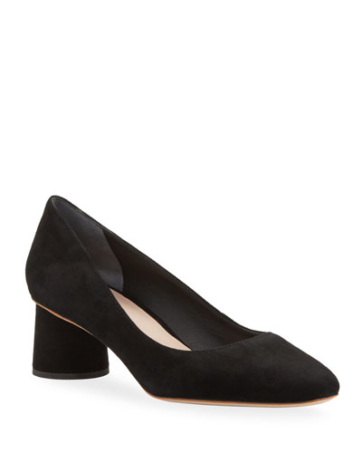 Round-Toe Slip-On Pumps