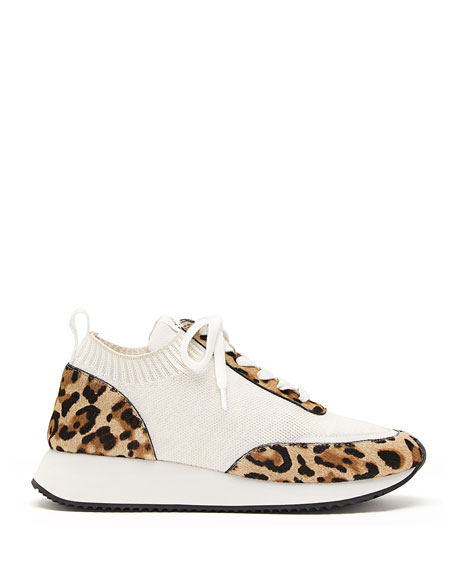 Remi Leopard-Print Lace-Up Sneakers