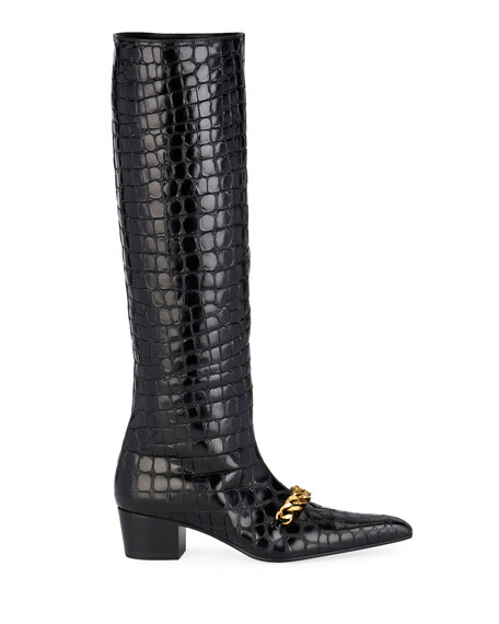 Super Embossed Crocodile Boots