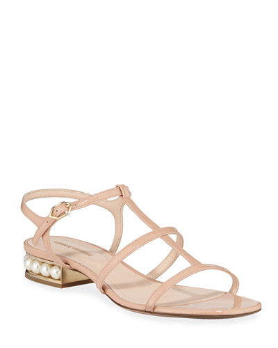 Casati Sandals with Pearly Heel