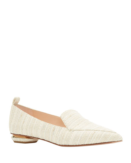 Beya Canvas Pointed Loafers