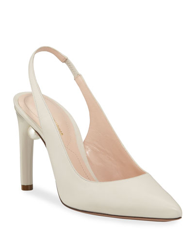 Mia 90 mm Slingback Pearly Pumps