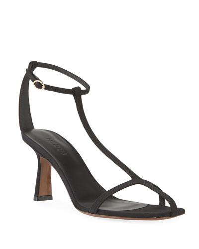 Jumel Grosgrain T-Strap Sandals