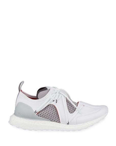 Ultraboost Lace-Up Neoprene Running Sneakers, White