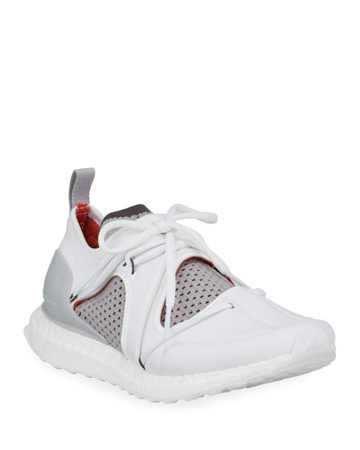 Ultraboost Lace-Up Neoprene Running Sneakers  White