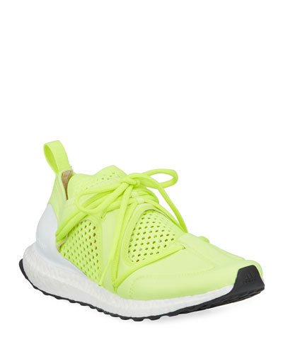 Ultraboost Lace-Up Neoprene Running Sneakers  Yellow