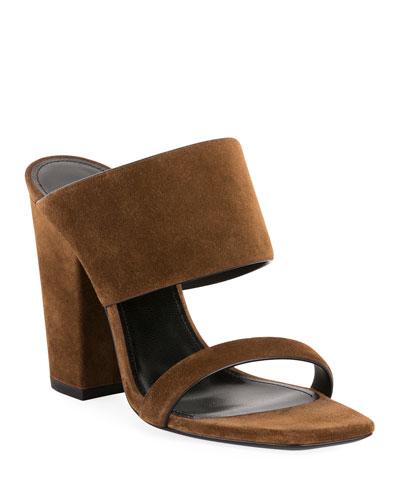Oak Suede Mule Sandals