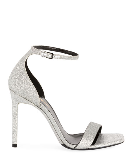 Amber Glittered Strappy Sandals