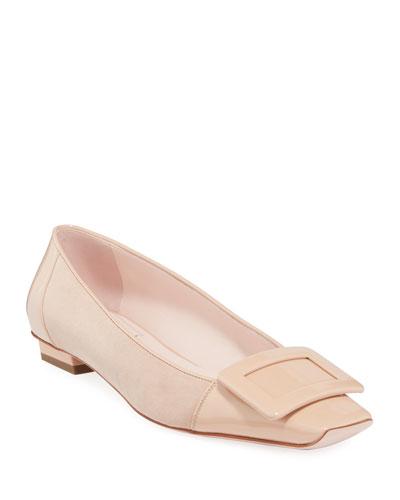 Belle Suede Pilgrim Ballet Flats