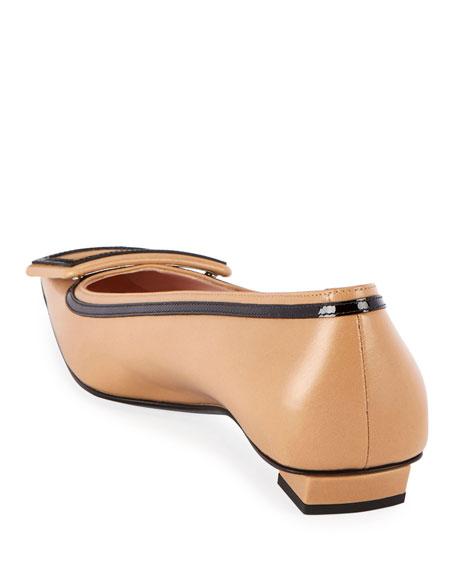 Belle Two-Tone Pilgrim Ballet Flats